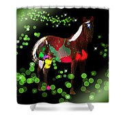 Grazing In The Grass - Featured In Visions Of The Night Group Shower Curtain