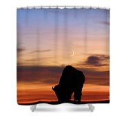 Grazing Under The Moon Shower Curtain