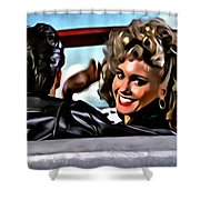 Grease Shower Curtain