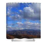 Great Balsam Mountains From Waterrock Knob Shower Curtain