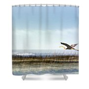 Great Blue Heron - Orange Beach Alabama Shower Curtain