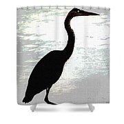 Great Blue Herons Nightside Shower Curtain