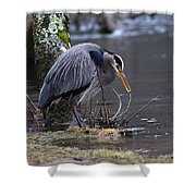 Great Blue On The Clinch River II Shower Curtain