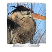 Great Blue Up Close Shower Curtain