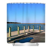 Great Day For Fishing In The Marsh Shower Curtain