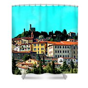Great Day In The Village Shower Curtain