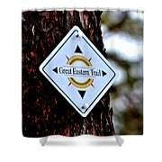 Great Eastern Trail Marker Shower Curtain