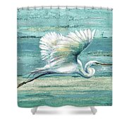 Great Egret I Shower Curtain