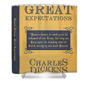 Great Expectations By Charles Dickens Book Cover Poster Art 1 Shower Curtain