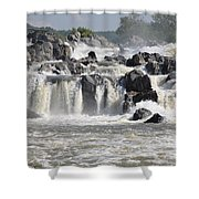 Great Falls Of The Potomac River Shower Curtain