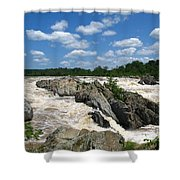 Great Falls On The Potomac Shower Curtain