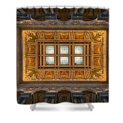 Great Hall Ceiling Library Of Congress Shower Curtain