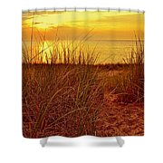 Great Lake Great Sunset 2 Shower Curtain