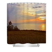 Great Lake Great Sunset Shower Curtain