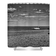 Great Lakes Boating Shower Curtain