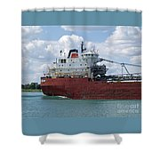 Great Lakes Transport Shower Curtain
