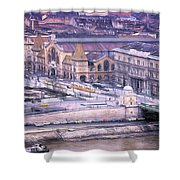 Great Market Hall Budapest Shower Curtain