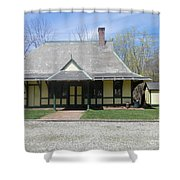Great Meadows Railroad Station In N J Shower Curtain