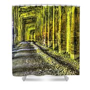 Great Norther Railroad Snow Shed - Electric Neon Shower Curtain