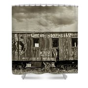 Great Northern Caboose Shower Curtain