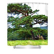 Great Pine Shower Curtain