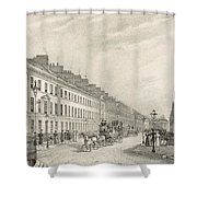 Great Pultney Street, Bath, C.1883 Shower Curtain