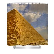 Great Pyramid Painting Shower Curtain