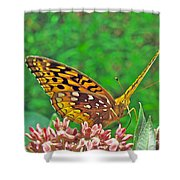 Great Spangled Fritillary Butterfly - Speyeria Cybele Shower Curtain