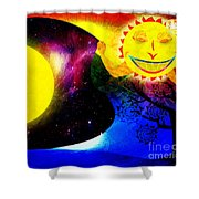 Great Sun Jester And The Night Sky Shower Curtain
