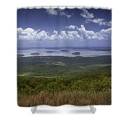Great View On Top Of Cadilac Mountain Shower Curtain