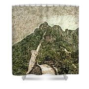 Great Wall 0033 - Colored Photo 2 Sl Shower Curtain