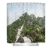 Great Wall 0033 - Light Colored Pencils Sl Shower Curtain