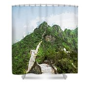 Great Wall 0033 - Oil Stain Sl Shower Curtain
