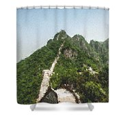 Great Wall 0033 - Pastel Chalk 2 Shower Curtain