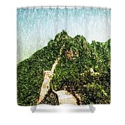 Great Wall 0033 - Pastel Pencil 1 Sl Shower Curtain