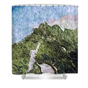 Great Wall 0033 - Watercolor 2 Sl Shower Curtain