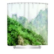 Great Wall 0043 - Academic Shower Curtain