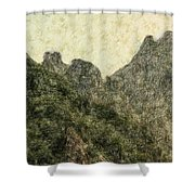Great Wall 0043 - Colored Photo 2 Shower Curtain