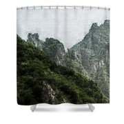Great Wall 0043 - Embossed Hp Shower Curtain