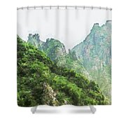 Great Wall 0043 - Oil Stain Sl Shower Curtain