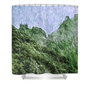 Great Wall 0043 -  Watercolor 2 Sl Shower Curtain