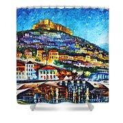 Greece Lesbos Island 2 Shower Curtain by Leonid Afremov