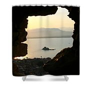 Greece-nafplio Bourtzi From Castle Shower Curtain
