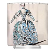 Greek Costume For The Chorus Shower Curtain