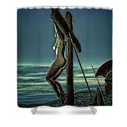 Greek Crucifixion Scene II Shower Curtain
