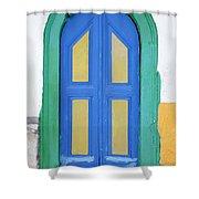 Greek Door Shower Curtain