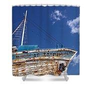Greek Fishing Boat Shower Curtain