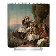 Greek Freedom Fighters Shower Curtain