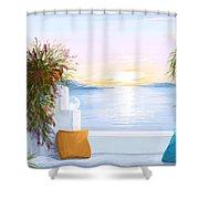 Greek House Shower Curtain