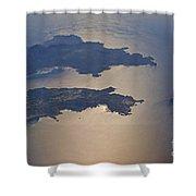 Greek Islands In The Aegean Sea   #7428 Shower Curtain